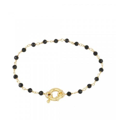 NAIMA BLACK BRACELET GOLD