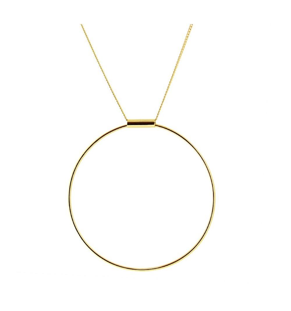 BIG HOOP GOLD - Collar plata 925