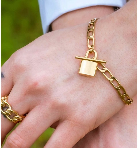 IRAIDE BRACELET STEEL GOLD