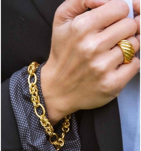 SAIDA BRACELET STEEL GOLD