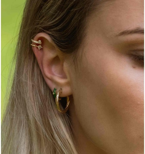 FIORELLA WHITE EAR CUFF GOLD