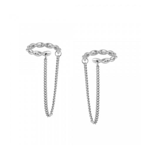 Ear cuff con cadena, Belona Silver