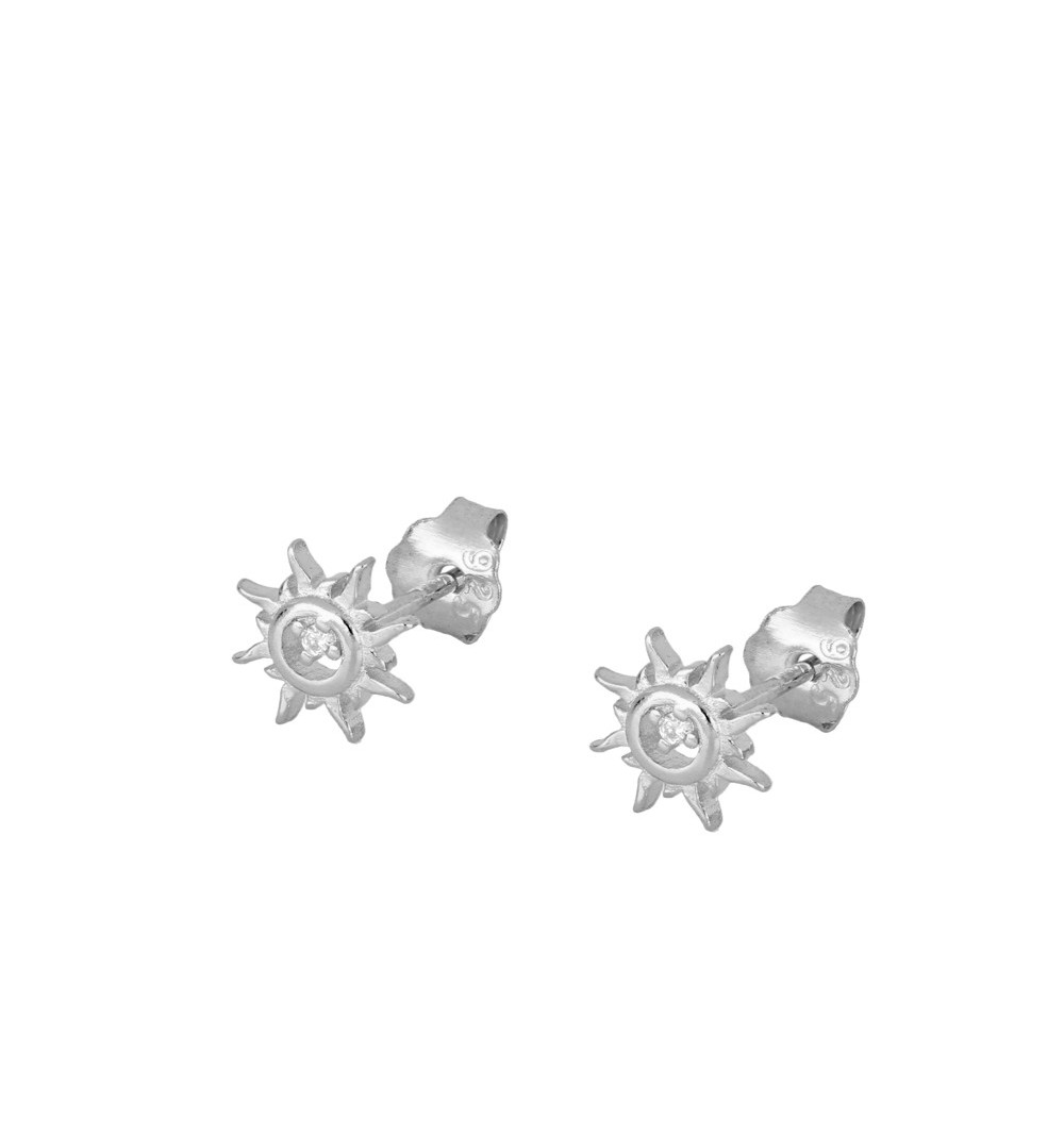 Earrings sun 925 sterling silver.