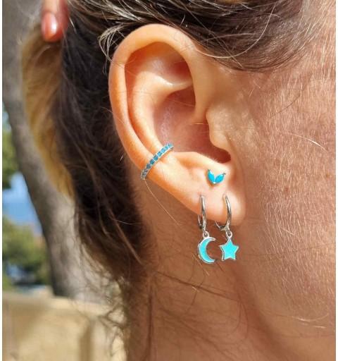 Pack 4 earring sterling silver