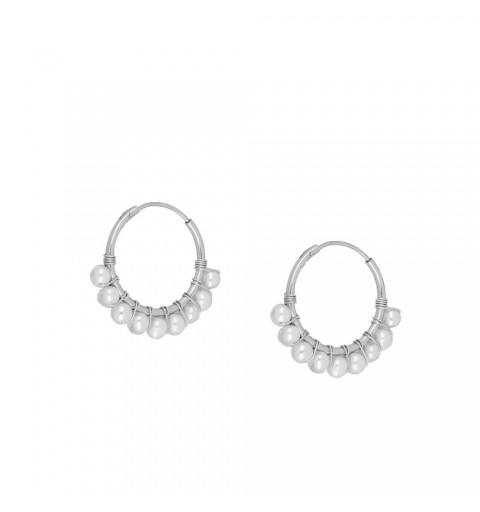 Aro de plata con perlas