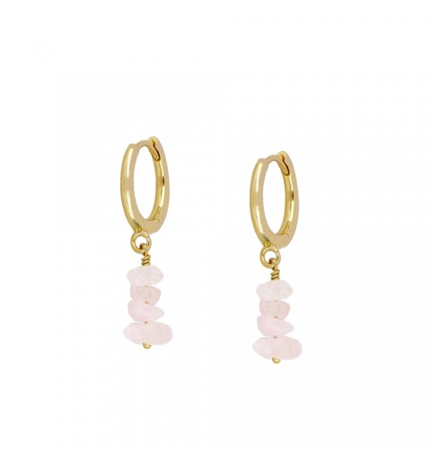 Earrings of ring of 11mm, 925 sterling silver, gold-plated