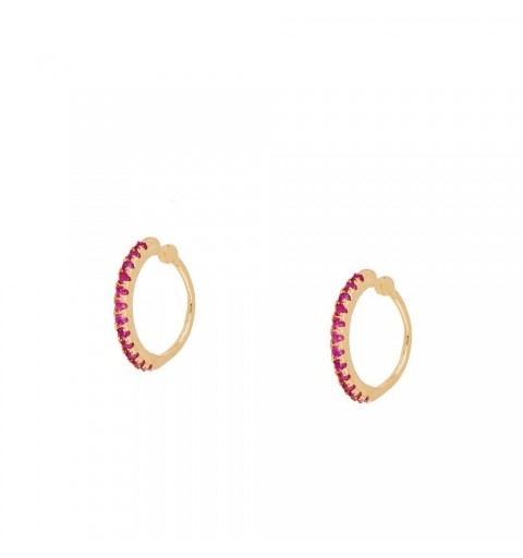Sterling silver ear cuff earring, gold-plated
