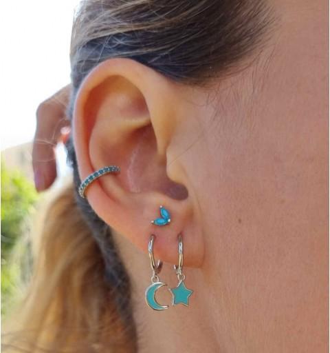EAR CUFF OCEAN SILVER
