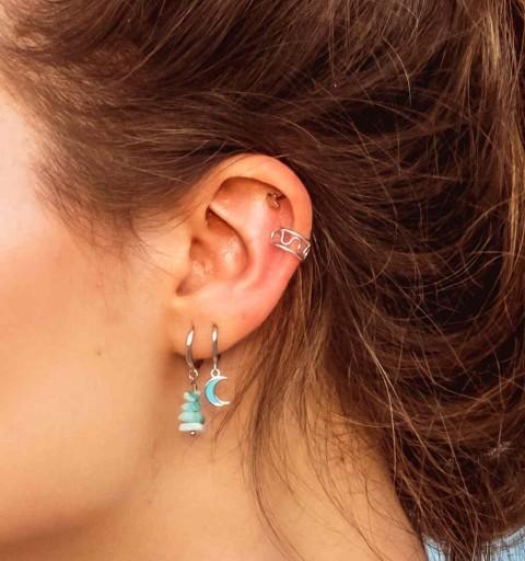 Pendiente Ear Cuff de plata de ley