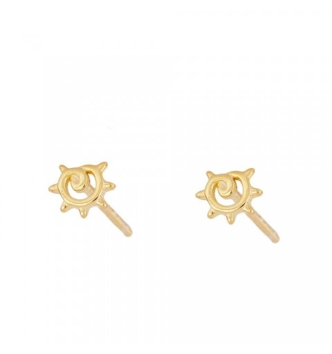 Sterling silver mini earring, gold-plated.