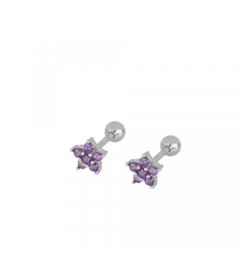 Sterling silver ear piercing earring
