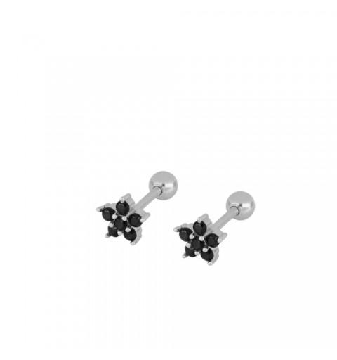 Pendiente piercing para oreja, disponible en plata de primera ley