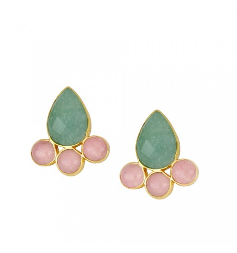 Gold plated sterling silver earring