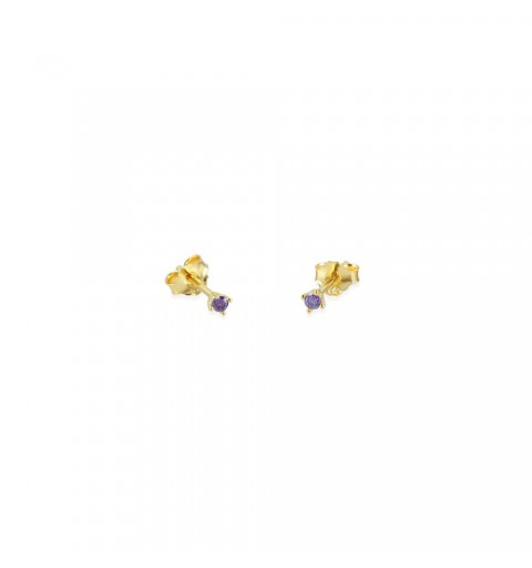 Sterling silver mini earring gold-plated