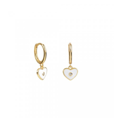 Gold-plated earrings of ring of 11mm, 925 sterling silver.