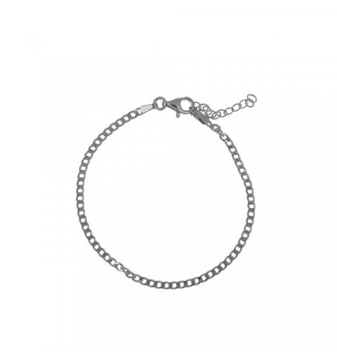 Bracelet link made of 925 sterling silver.