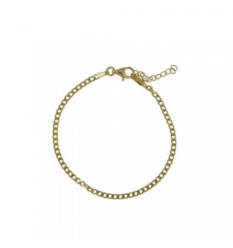 Gold-plated bracelet link made of 925 sterling silver.