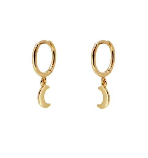 MOON HOOPS GOLD