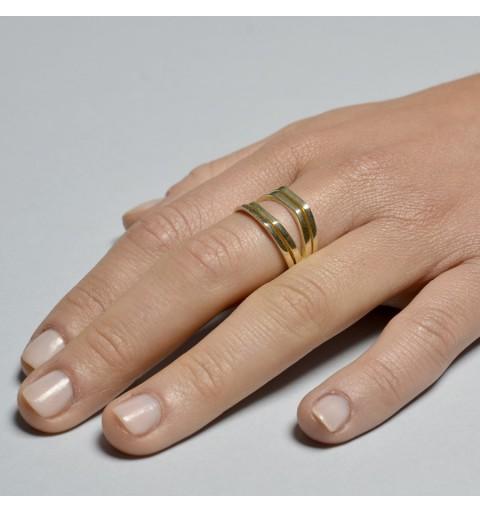 A411 – Anillo plata 925 y plata 925 bañada en oro