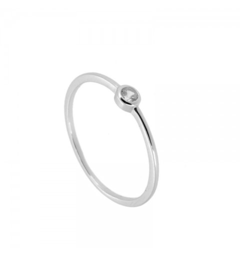 SOLITARY RING SILVER