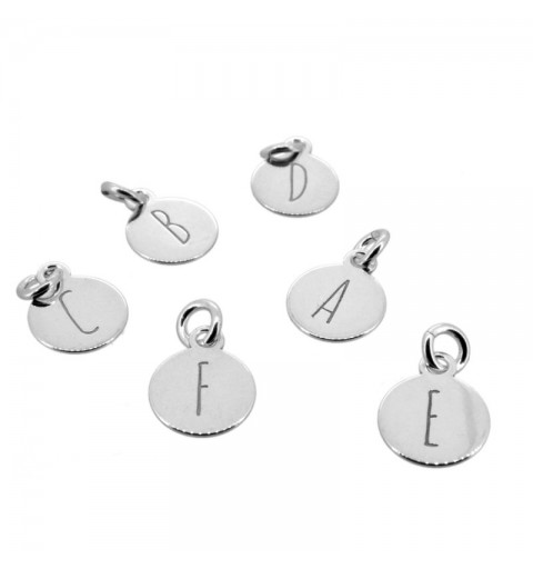 INITIAL CHARM SILVER