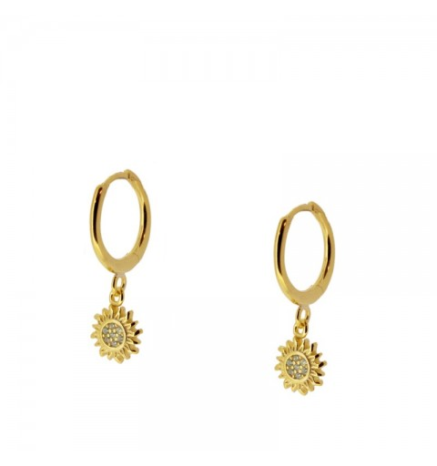 BRIGTH SUN HOOPS GOLD
