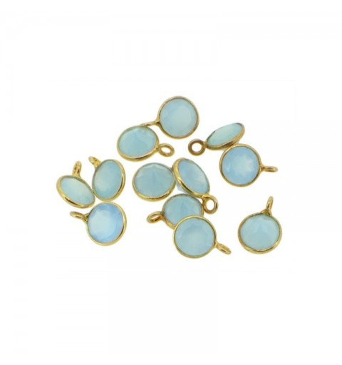 BLUE STONE CHARM GOLD