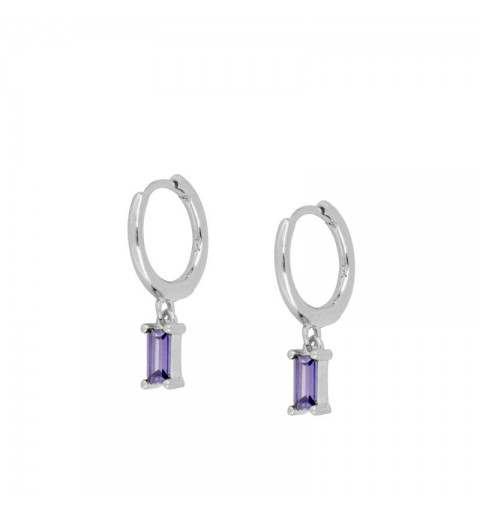 ZENITH LILAC HOOPS SILVER