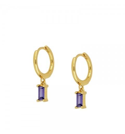 ZENITH LILAC HOOPS GOLD