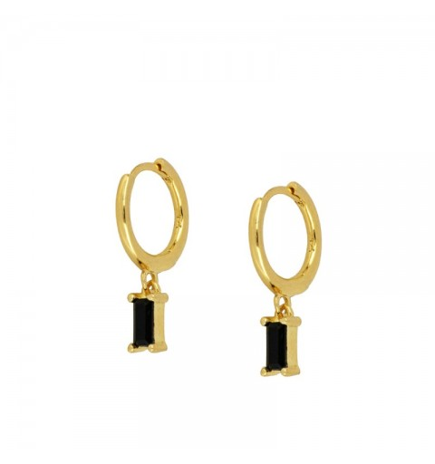 ZENITH BLACK HOOPS GOLD