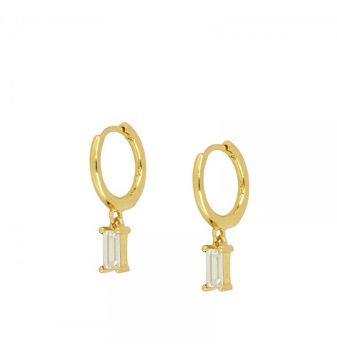 ZENITH WHITE HOOPS GOLD