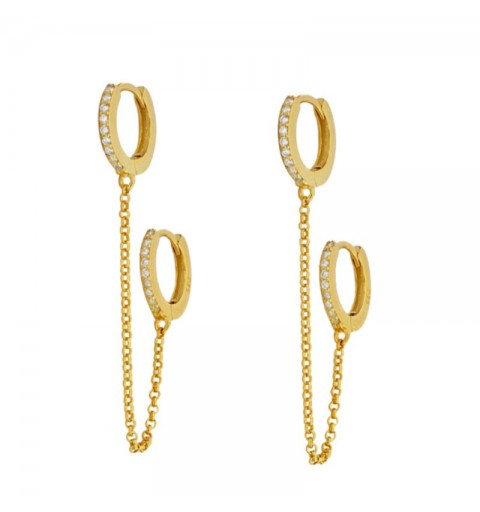 MANETTE HOOPS GOLD