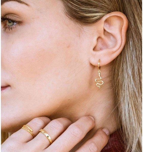 NAGINI HOOPS GOLD