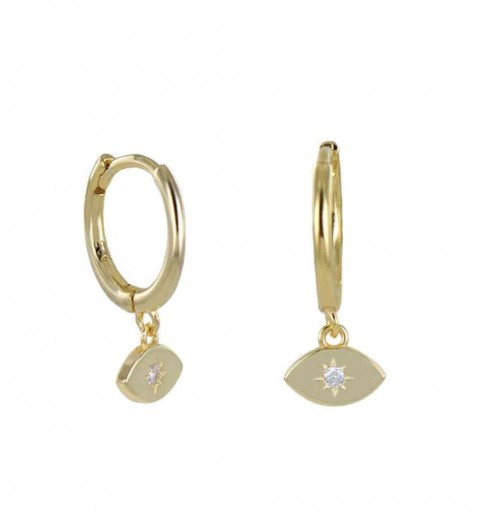 EYES HOOPS GOLD
