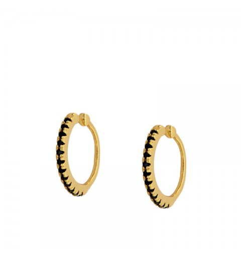 VENUS BLACK EAR CUFF GOLD