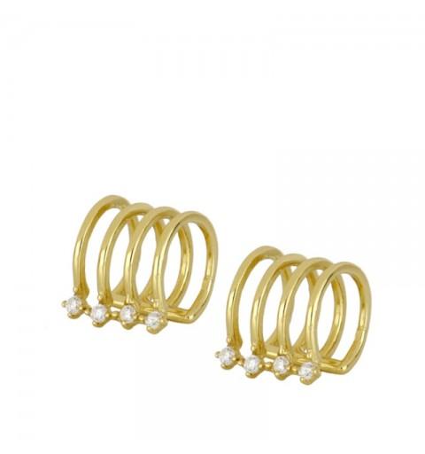 MAJESTIC LILAC EAR CUFF GOLD