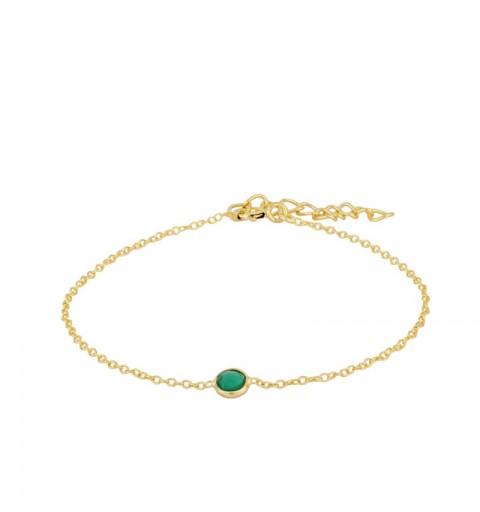 SIRAH GREEN BRACELET GOLD