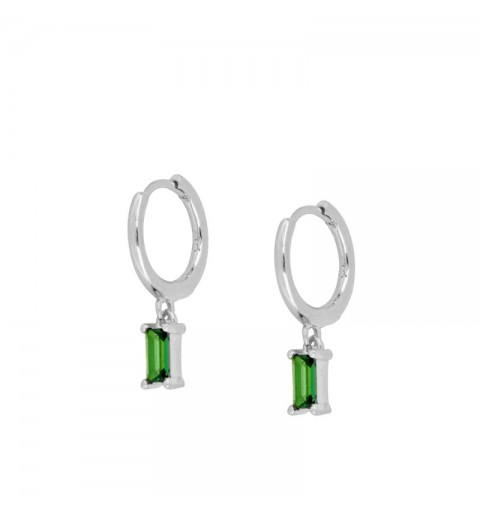 ZENITH GREEN HOOPS SILVER