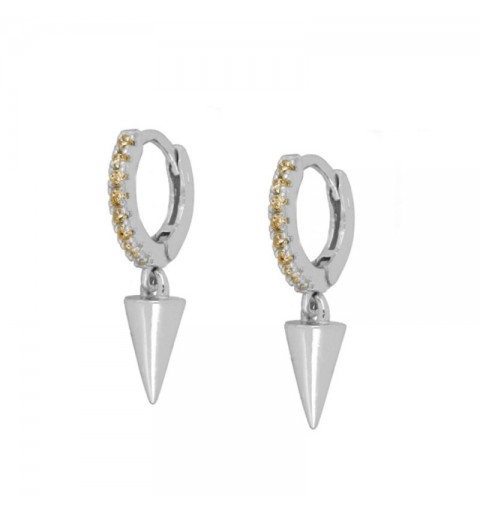 CONE CHAMPAGNE HOOPS SILVER