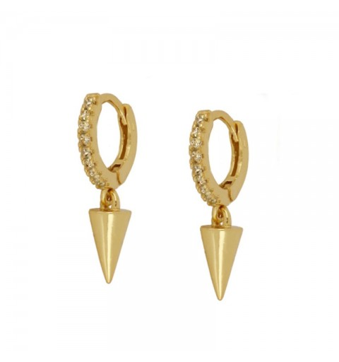 CONE CHAMPAGNE HOOPS GOLD