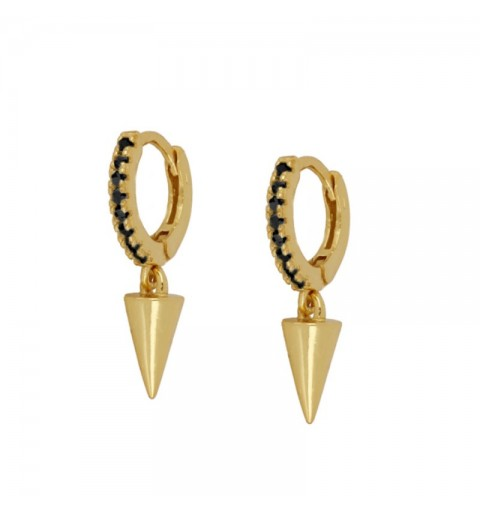CONE BLACK HOOPS GOLD