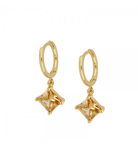 MARIEL CHAMPAGNE HOOPS GOLD