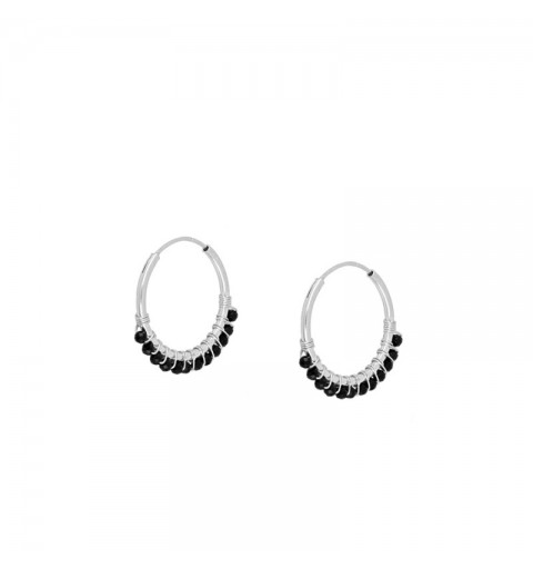 GLORIA EARRING HOOPS SILVER