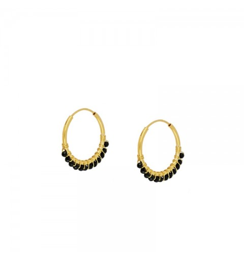 GLORIA EARRING HOOPS GOLD