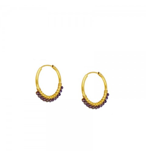 AMAT EARRING HOOPS GOLD