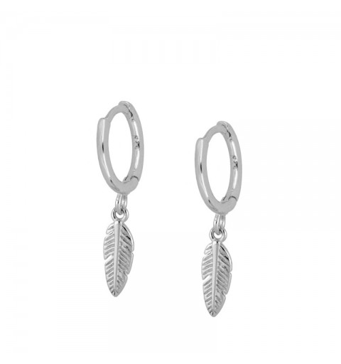 FEATHER HOOPS SILVER