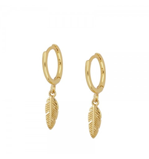 FEATHER HOOPS GOLD