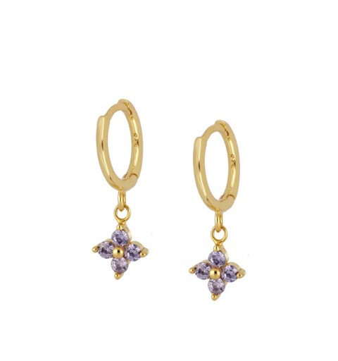 LILAC MEG HOOPS GOLD