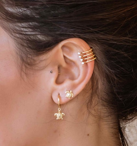MAJESTIC LILAC EAR CUFF GOLD