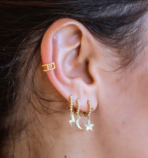SHANNON EAR CUFF GOLD